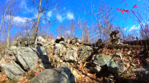 ramapo mountain state forest castle point trail - rocky area 2