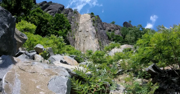palisades state line lookout - peanut leap trail - rock scramble 4