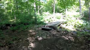 palisades state line lookout - peanut leap trail - trail e bridge